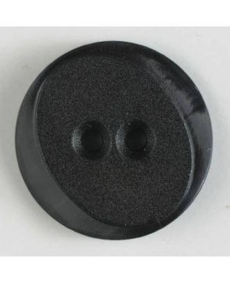 Polyamidknopf rund mit ovalem Einsatz mit 2 Löchern - Größe: 18mm - Farbe: braun - Art.Nr. 267620