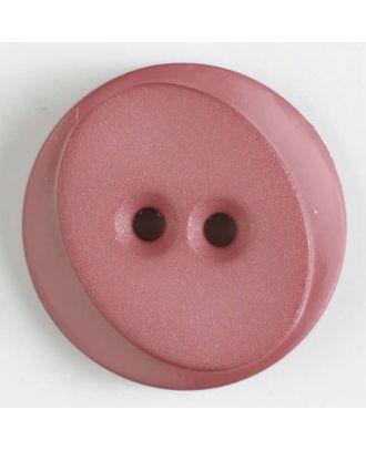 Polyamidknopf rund mit ovalem Einsatz mit 2 Löchern - Größe: 18mm - Farbe: pink - Art.Nr. 267624