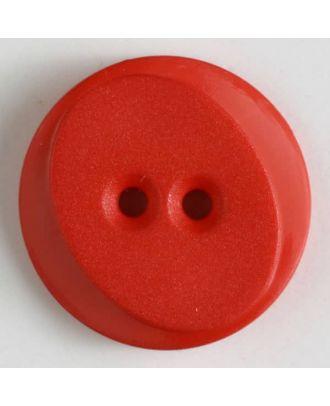 Polyamidknopf rund mit ovalem Einsatz mit 2 Löchern - Größe: 18mm - Farbe: rot - Art.Nr. 261201