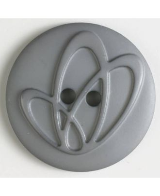 Polyamidknopf mit Löchern - Größe: 25mm - Farbe: grau - Art.Nr. 318608