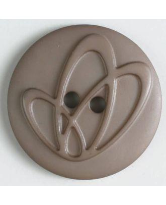 Polyamidknopf mit Löchern - Größe: 32mm - Farbe: braun - Art.Nr. 378610
