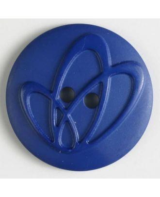 Polyamidknopf mit Löchern - Größe: 32mm - Farbe: blau - Art.Nr. 378611