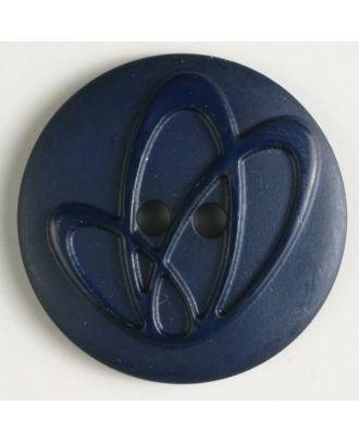 Polyamidknopf mit Löchern - Größe: 32mm - Farbe: marineblau - Art.Nr. 370630