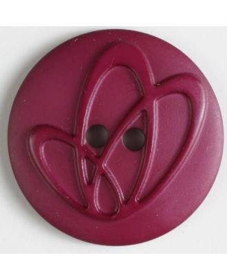 Polyamidknopf mit Löchern - Größe: 32mm - Farbe: lila - Art.Nr. 378612