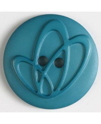 Polyamidknopf mit Löchern - Größe: 32mm - Farbe: grün - Art.Nr. 378614