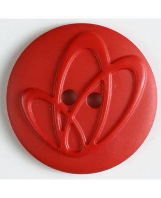 Polyamidknopf mit Löchern - Größe: 32mm - Farbe: rot - Art.Nr. 370631