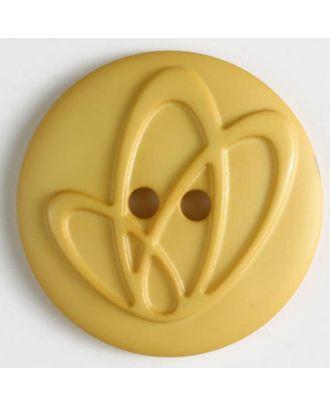 Polyamidknopf mit Löchern - Größe: 32mm - Farbe: gelb - Art.Nr. 378617