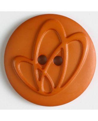 Polyamidknopf mit Löchern - Größe: 32mm - Farbe: orange - Art.Nr. 378618