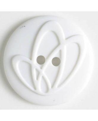 Polyamidknopf mit Löchern - Größe: 32mm - Farbe: weiss - Art.Nr. 370628