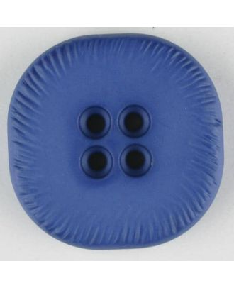Polyamidknopf, viereckig, 4-Löcher optisch dunkler abgesetzt - Größe: 32mm - Farbe: blau - Art.Nr. 372710