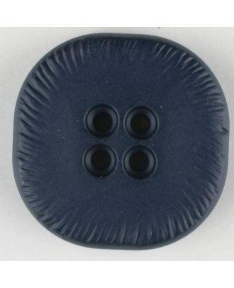Polyamidknopf, viereckig, 4-Löcher optisch dunkler abgesetzt - Größe: 32mm - Farbe: marine - Art.Nr. 370690