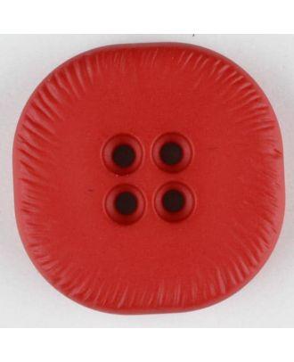 Polyamidknopf, viereckig, 4-Löcher optisch dunkler abgesetzt -  Größe: 32mm - Farbe: rot - Art.Nr. 370691