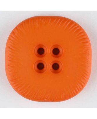 Polyamidknopf, viereckig, 4-Löcher optisch dunkler abgesetzt - Größe: 32mm - Farbe: orange - Art.Nr. 372716