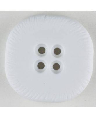 Polyamidknopf, viereckig, 4-Löcher optisch dunkler abgesetzt - Größe: 32mm - Farbe: weiss - Art.Nr. 370692