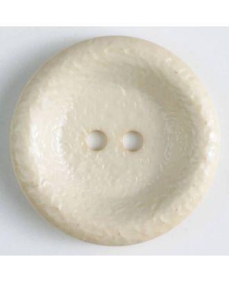 Polyamidknopf, glänzend unruhige Oberfläche, 2-loch -  Größe: 34mm - Farbe: beige - Art.Nr. 372700