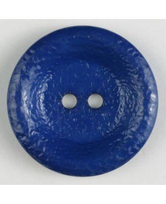 Polyamidknopf, glänzend unruhige Oberfläche, 2-loch - Größe: 34mm - Farbe: blau - Art.Nr. 372702