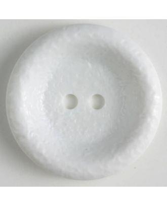 Polyamidknopf, glänzende unruhige Oberfläche, 2-loch - Größe: 34mm - Farbe: weiss - Art.Nr. 370660