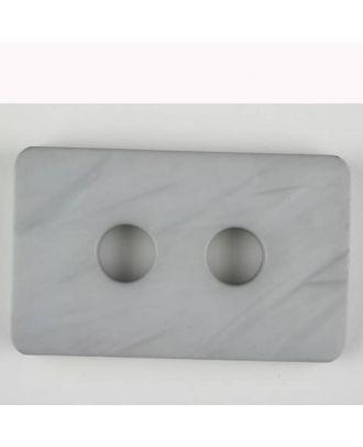 Polyamidknopf rechteckig mit abgerundeten Ecken,  2-loch - Größe: 55mm - Farbe: grau - Art.Nr. 453700
