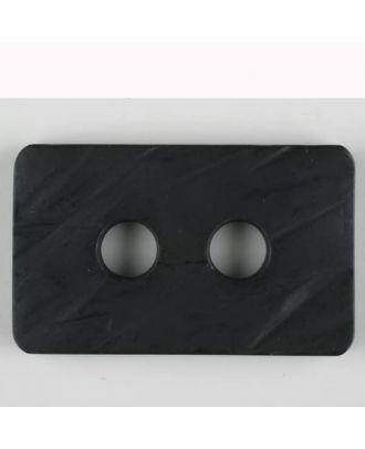 Polyamidknopf rechteckig mit abgerundeten Ecken,  2-loch - Größe: 55mm - Farbe: schwarz - Art.Nr. 450180