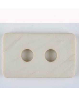 Polyamidknopf rechteckig mit abgerundeten Ecken,  2-loch - Größe: 40mm - Farbe: beige - Art.Nr. 403701