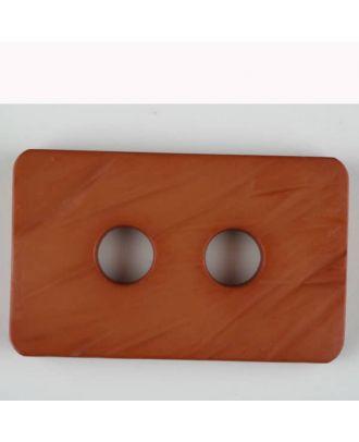 Polyamidknopf rechteckig mit abgerundeten Ecken,  2-loch - Größe: 55mm - Farbe: braun - Art.Nr. 453703