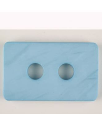 Polyamidknopf rechteckig mit abgerundeten Ecken,  2-loch - Größe: 55mm - Farbe: blau - Art.Nr. 453704