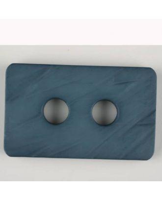 Polyamidknopf rechteckig mit abgerundeten Ecken,  2-loch - Größe: 55mm - Farbe: blau - Art.Nr. 453706