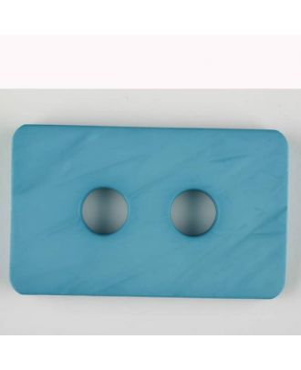 Polyamidknopf rechteckig mit abgerundeten Ecken,  2-loch - Größe: 55mm - Farbe: blau - Art.Nr. 453707