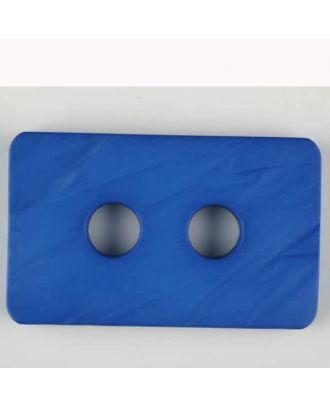 Polyamidknopf rechteckig mit abgerundeten Ecken,  2-loch - Größe: 55mm - Farbe: blau - Art.Nr. 453705