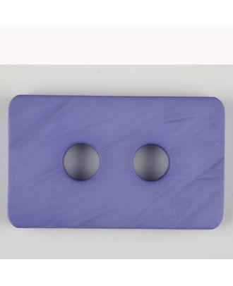 Polyamidknopf rechteckig mit abgerundeten Ecken,  2-loch - Größe: 55mm - Farbe: lila - Art.Nr. 453709
