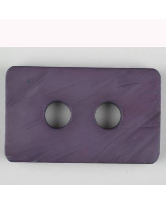 Polyamidknopf rechteckig mit abgerundeten Ecken,  2-loch - Größe: 40mm - Farbe: lila - Art.Nr. 403710