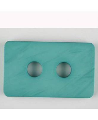 Polyamidknopf rechteckig mit abgerundeten Ecken,  2-loch -  Größe: 55mm - Farbe: grün - Art.Nr. 453711