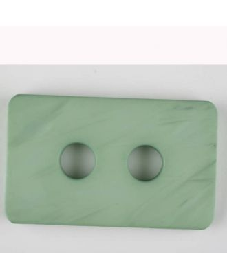 Polyamidknopf rechteckig mit abgerundeten Ecken,  2-loch - Größe: 55mm - Farbe: grün - Art.Nr. 453712