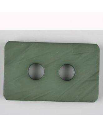Polyamidknopf rechteckig mit abgerundeten Ecken,  2-loch - Größe: 40mm - Farbe: grün - Art.Nr. 403713
