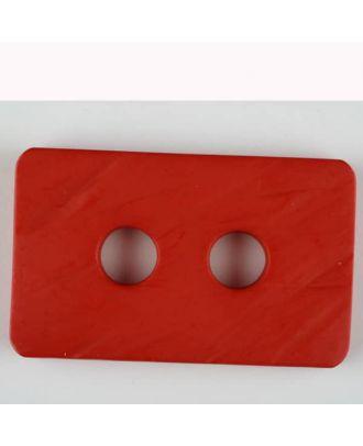 Polyamidknopf rechteckig mit abgerundeten Ecken,  2-loch - Größe: 55mm - Farbe: rot - Art.Nr. 453714