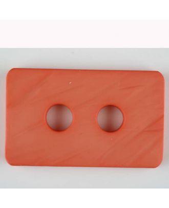 Polyamidknopf rechteckig mit abgerundeten Ecken,  2-loch - Größe: 40mm - Farbe: orange - Art.Nr. 403715