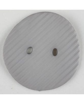 Polyamidknopf schräg schraffiert,  2-loch - Größe: 34mm - Farbe: grau - Art.Nr. 373730