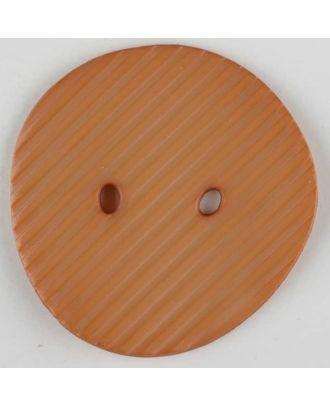 Polyamidknopf schräg schraffiert,  2-loch - Größe: 34mm - Farbe: beige - Art.Nr. 373732