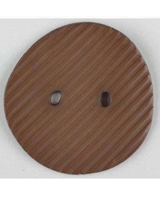 Polyamidknopf schräg schraffiert,  2-loch - Größe: 25mm - Farbe: beige - Art.Nr. 313716