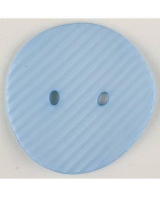Polyamidknopf schräg schraffiert,  2-loch - Größe: 34mm - Farbe: blau - Art.Nr. 373734