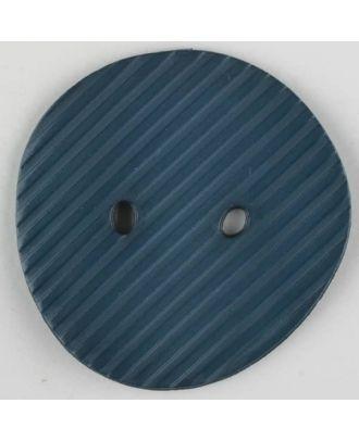 Polyamidknopf schräg schraffiert,  2-loch - Größe: 34mm - Farbe: blau - Art.Nr. 373736