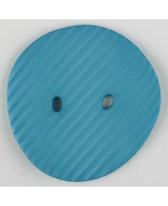 Polyamidknopf schräg schraffiert,  2-loch - Größe: 34mm - Farbe: blau - Art.Nr. 373737