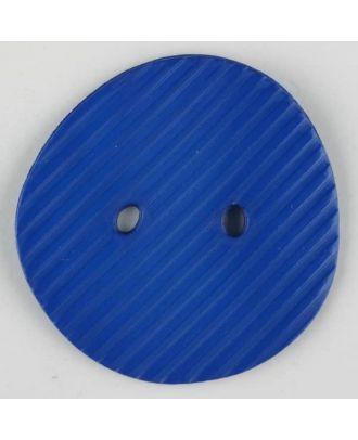 Polyamidknopf schräg schraffiert,  2-loch - Größe: 34mm - Farbe: blau - Art.Nr. 373735