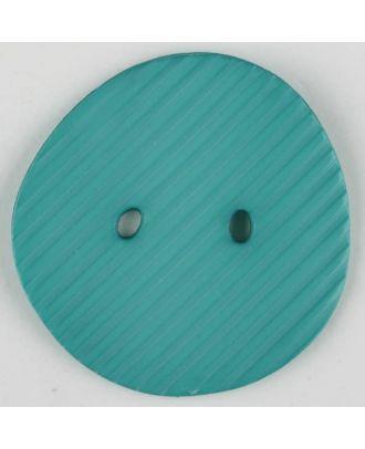 Polyamidknopf schräg schraffiert,  2-loch - Größe: 34mm - Farbe: grün - Art.Nr. 373740