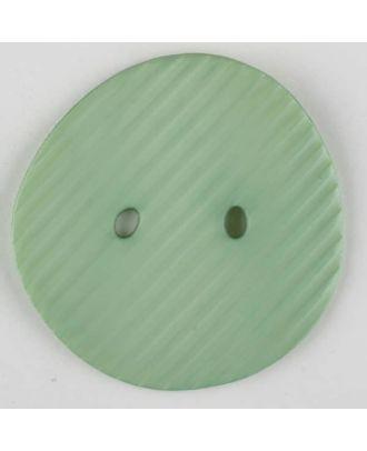 Polyamidknopf schräg schraffiert,  2-loch - Größe: 34mm - Farbe: grün - Art.Nr. 373741