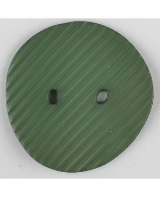 Polyamidknopf schräg schraffiert,  2-loch - Größe: 34mm - Farbe: grün - Art.Nr. 373742