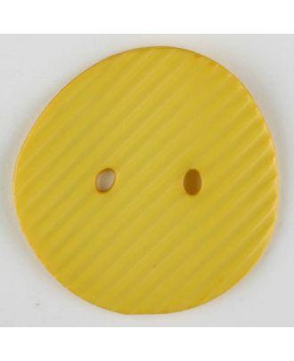 Polyamidknopf schräg schraffiert,  2-loch - Größe: 25mm - Farbe: gelb - Art.Nr. 313728