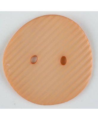 Polyamidknopf schräg schraffiert,  2-loch - Größe: 25mm - Farbe: orange - Art.Nr. 313729