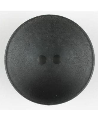 Holzknopf, Oberfläche mit Rost ähnelnder Patina, rund, 2 loch - Größe: 34mm - Farbe: schwarz - Art.Nr. 370725