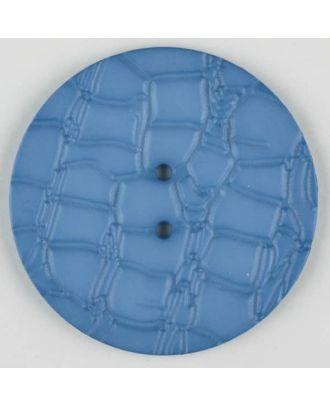 Polyamidknopf mit interessantem Reptilienmuster,  2-loch -  Größe: 32mm - Farbe: blau - Art.Nr. 373718